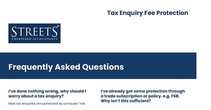 Tax Enquiry Fee Protection FAQs