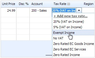 xero tax rates